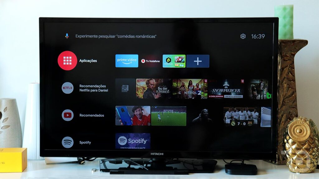 android tv mi box tema escuro