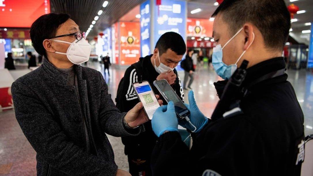 china pessoas mascara covid-19 app