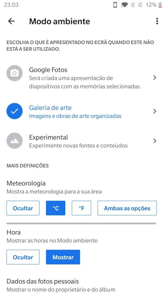 google home modo ambiente android tv