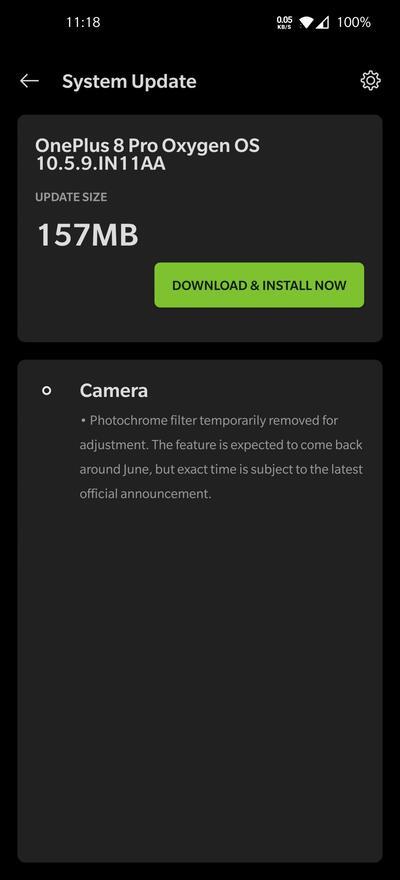 oneplus 8 pro update camera