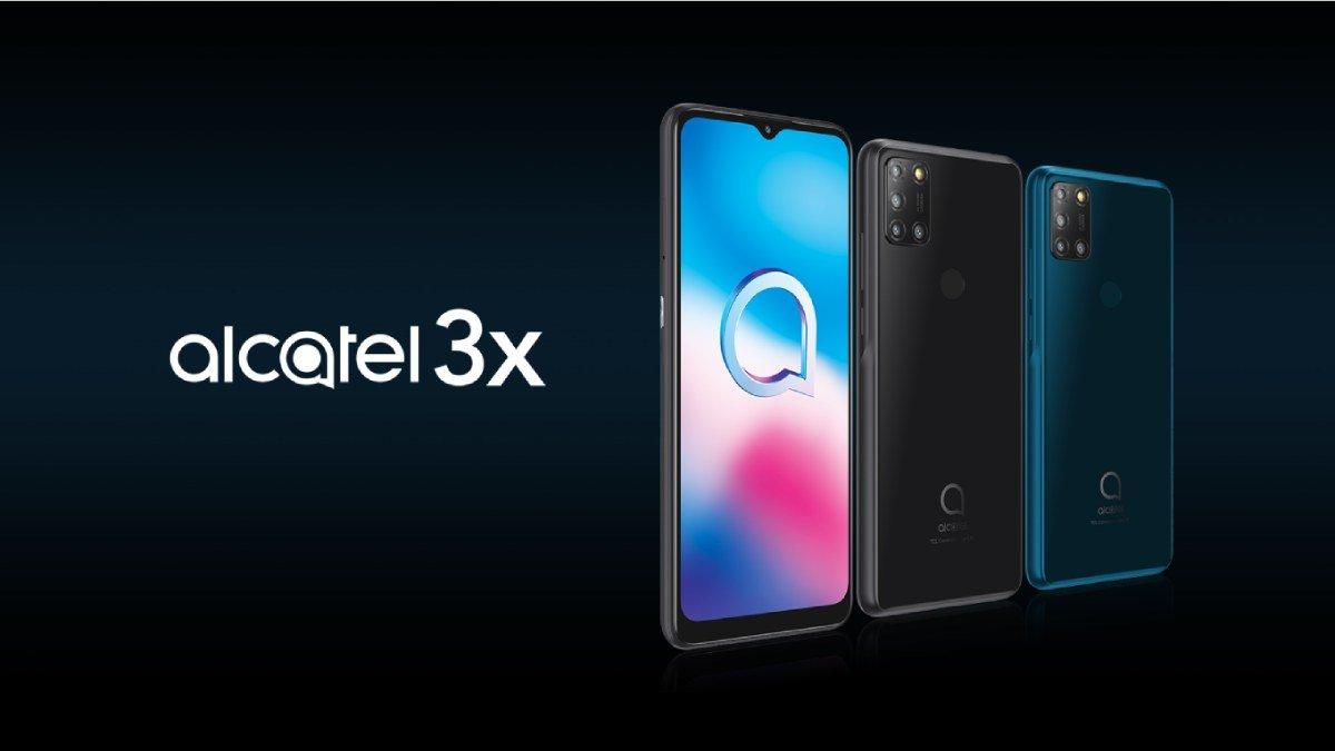 Alcatel 3x 2020 frente e tras