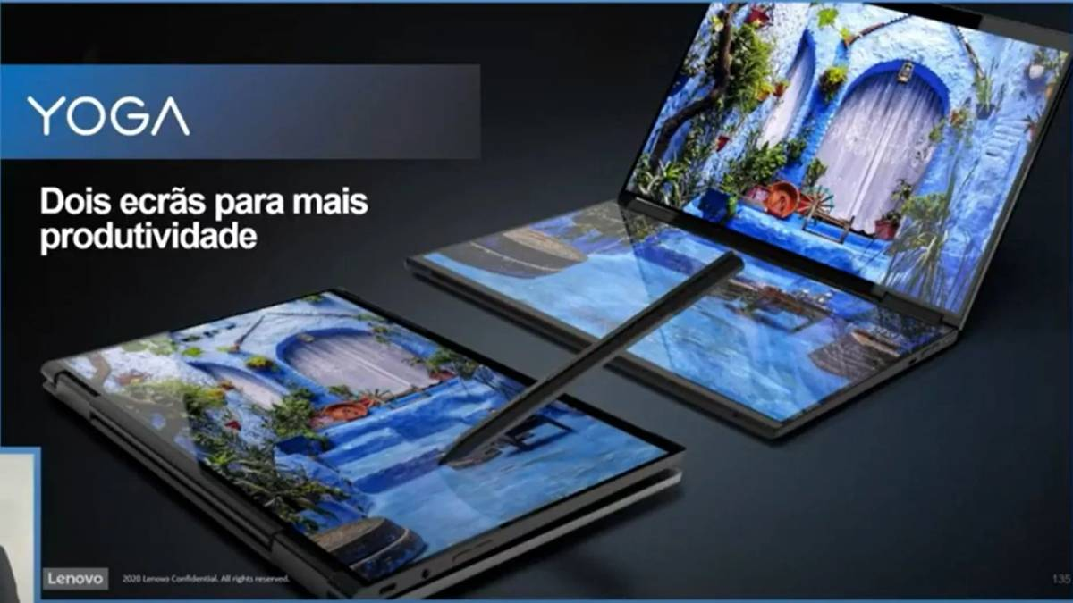 Lenovo prepara novo portátil com duplo ecrã rotativo a 360º e caneta