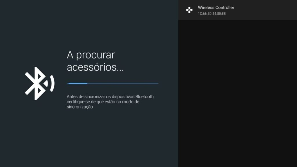 como conectar o comando ps4 android tv