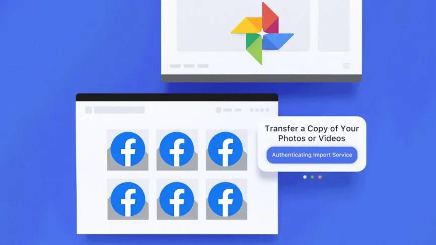 exportar fotos facebook para google photos
