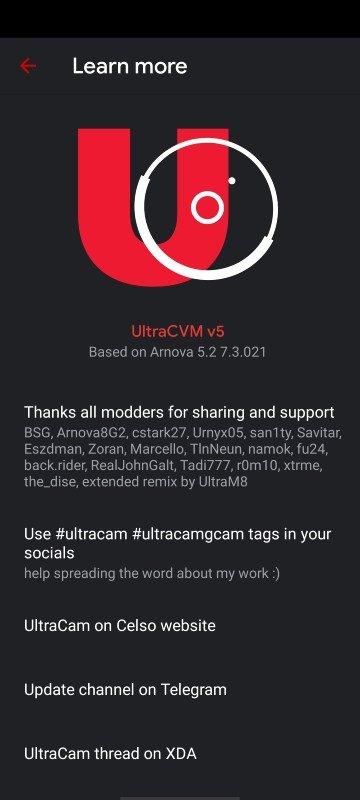 google camera UltraCVM 5