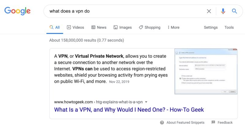 google destaque feature snippet pagina web