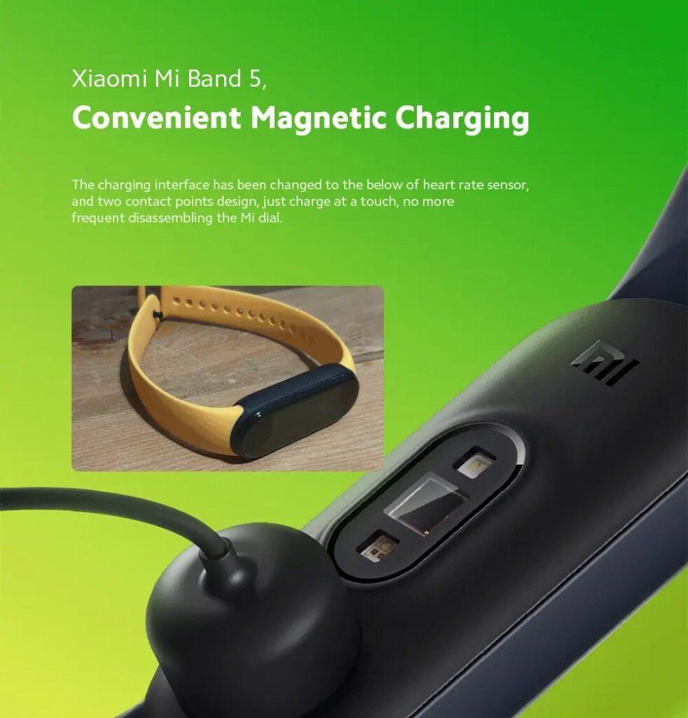 mi band 5 carregamento magnetico