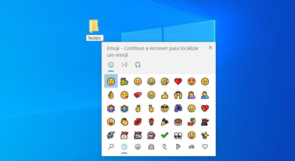colocar emojis nome pastas ficheiros