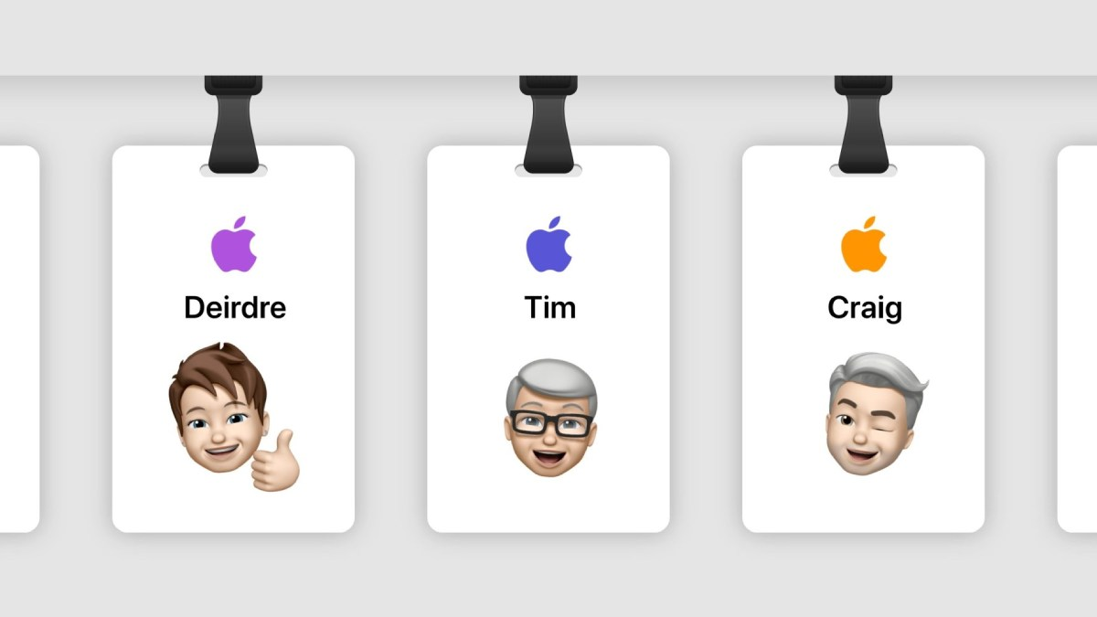 cracha apple personalizaod memoji