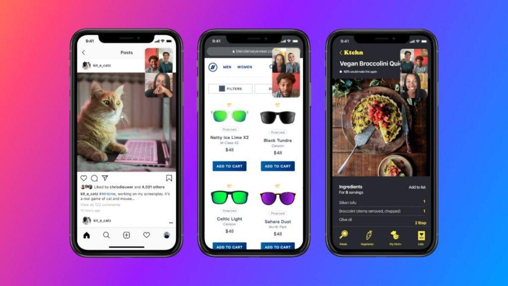 facebook messenger partilha ecra ios android