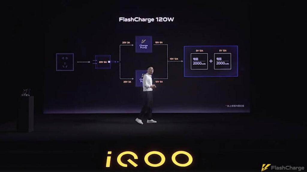 iqoo carregamento rápido flashcharge 120w