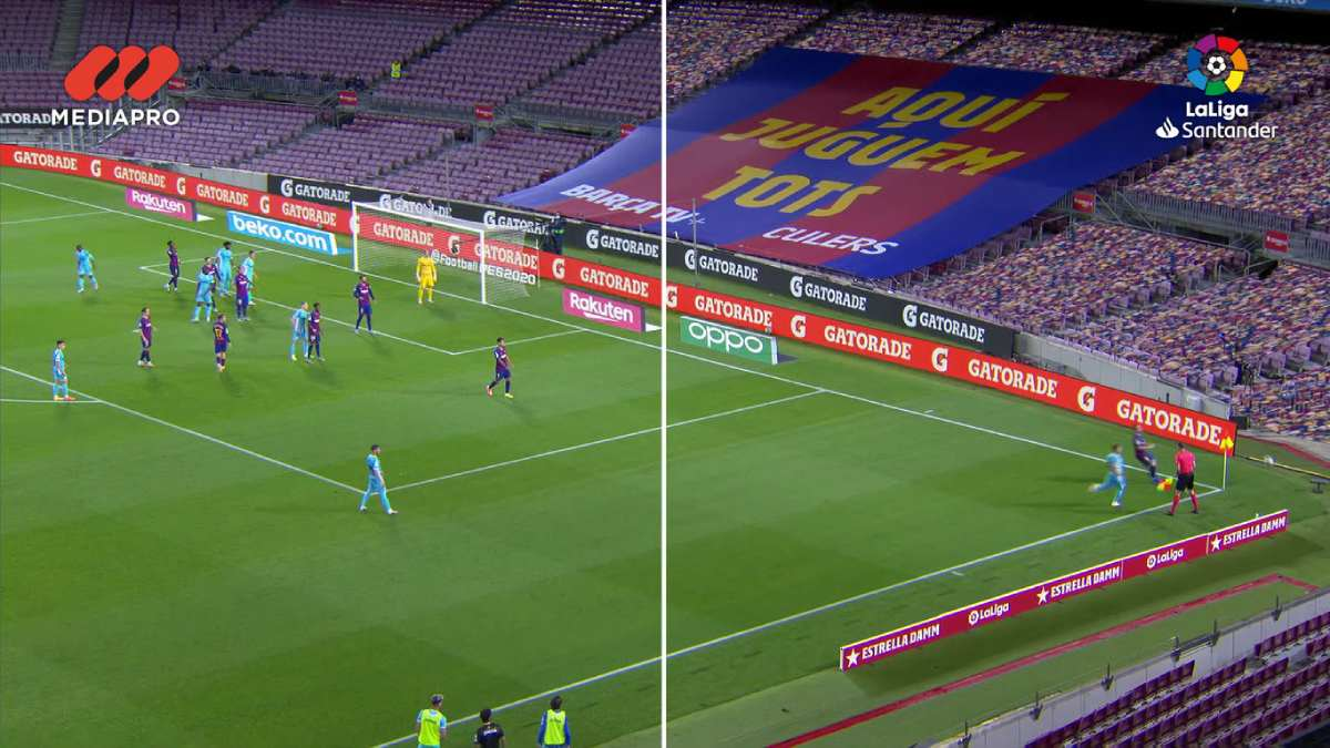 Liga Espanhola simula virtualmente adeptos com placas gráficas Nvidia e sons do FIFA
