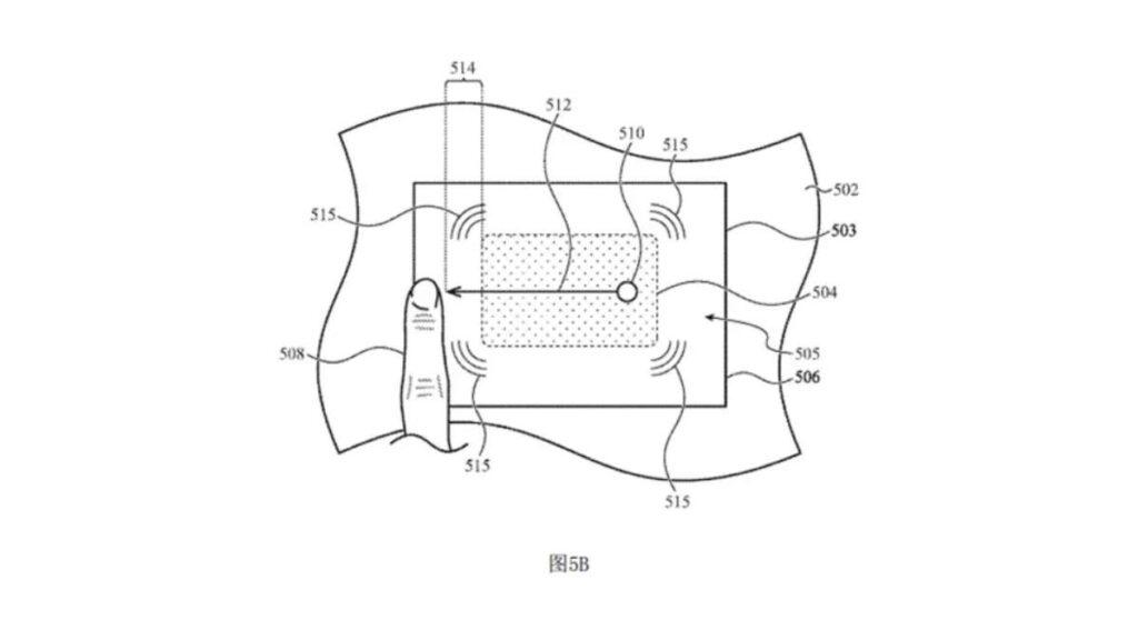 macbook patente interacao ecra