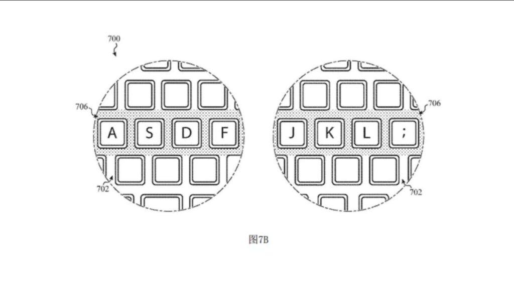 macbook patente luz teclado