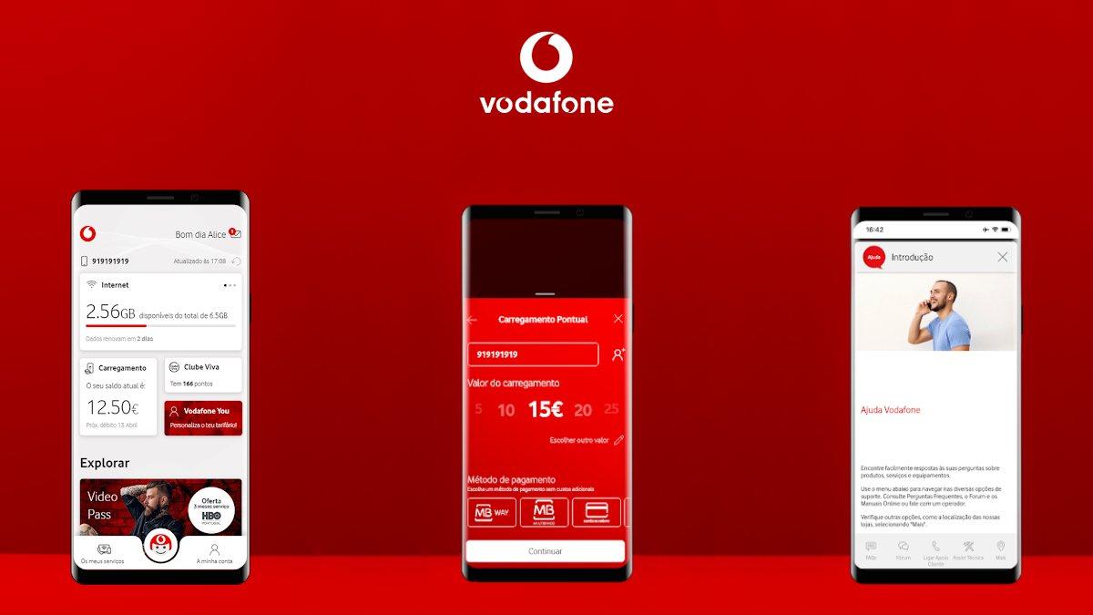 my vodafone app novo aspeto