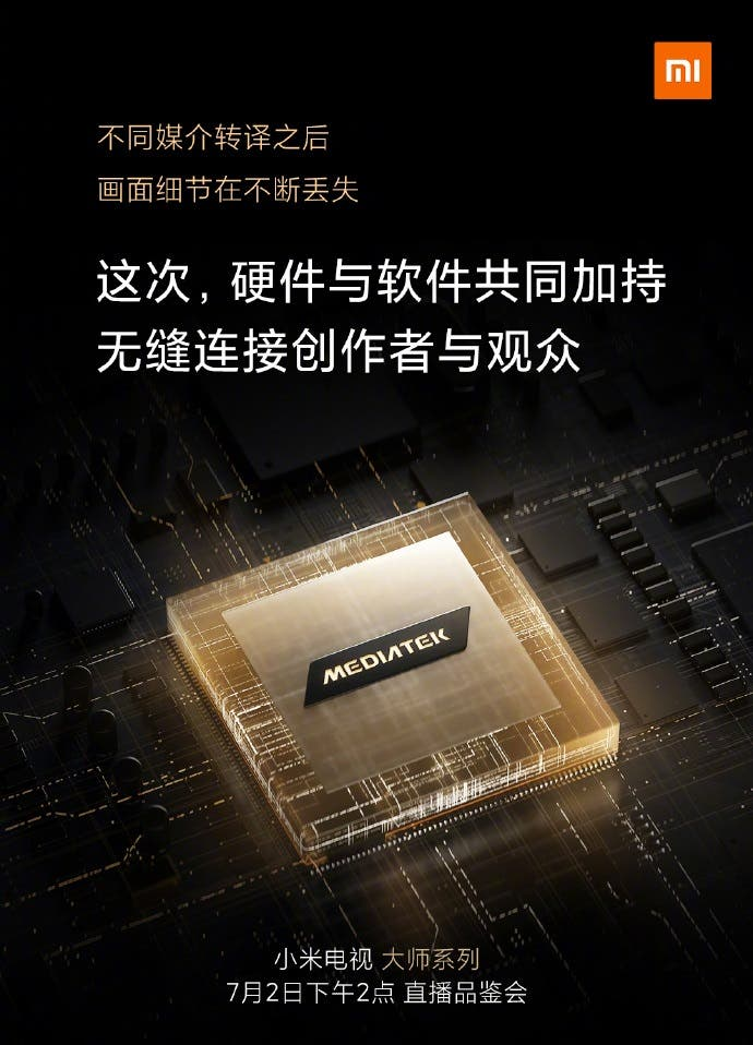 xiaomi mi tv master series mediatek