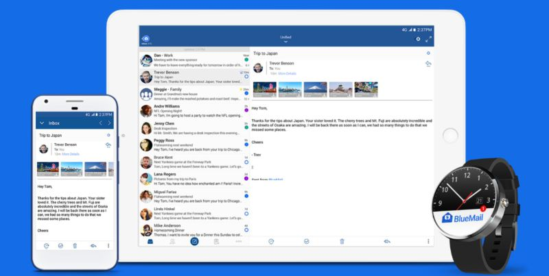bluemail google android play store
