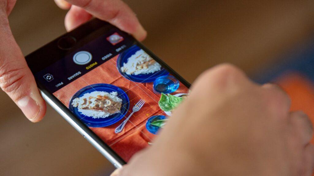 fotografia smartphone comida
