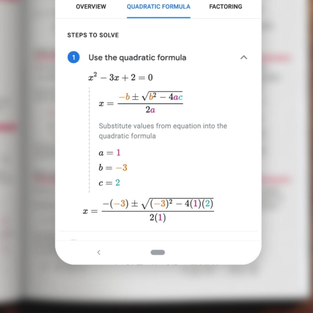 google lens homework