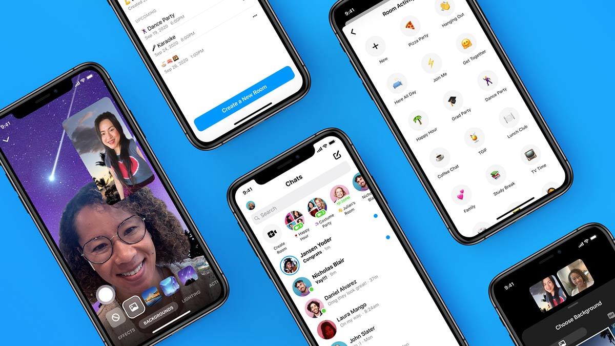 novas funcionalidades messenger rooms