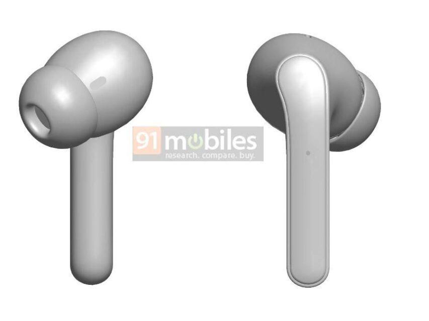 Patente revela design dos novos earphones TWS Realme Buds Air Pro