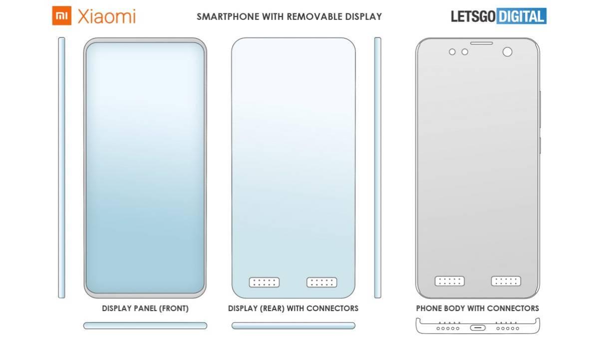 Xiaomi patenteia smartphone com ecrã destacável
