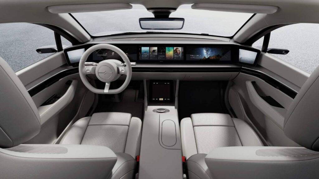 sony vision-s carro eletrico interior