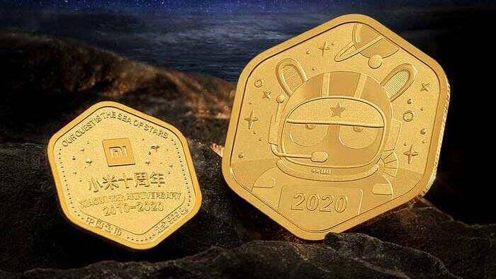 xiaomi moedas ouro