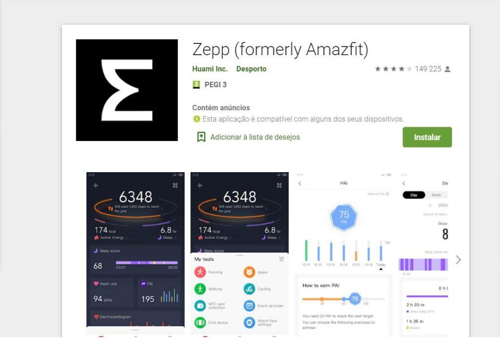 huami zepp amazfit app