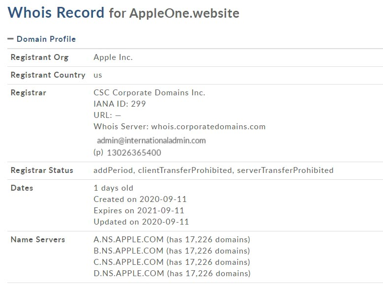 dominios appleone