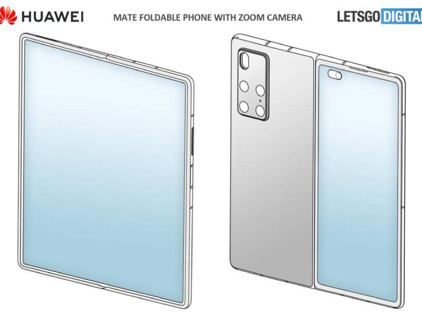 Patente revela aspeto do Huawei Mate X2