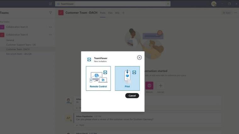 teamviewer integracao microsoft teams