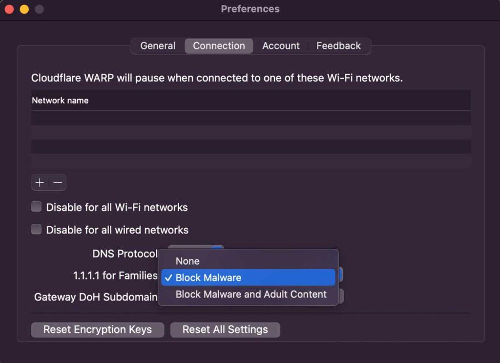1.1.1.1 warp vpn