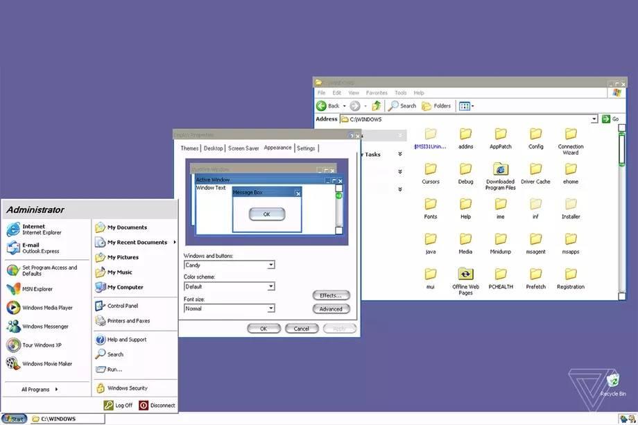 windows xp tema macos