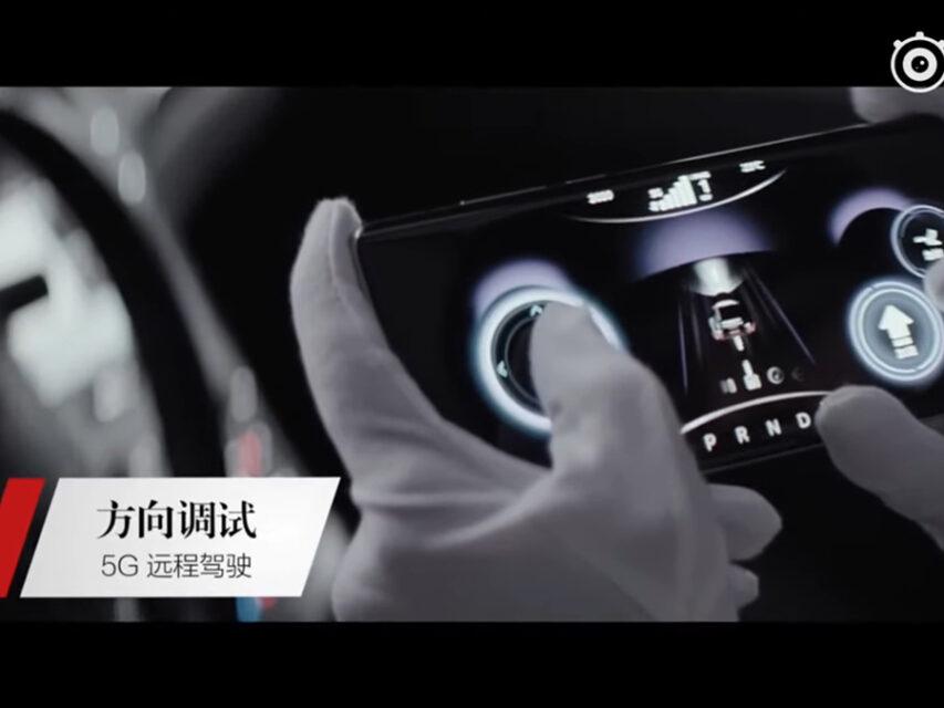 Xiaomi mostra carro a ser conduzido remotamente através de um Mi 10 Ultra