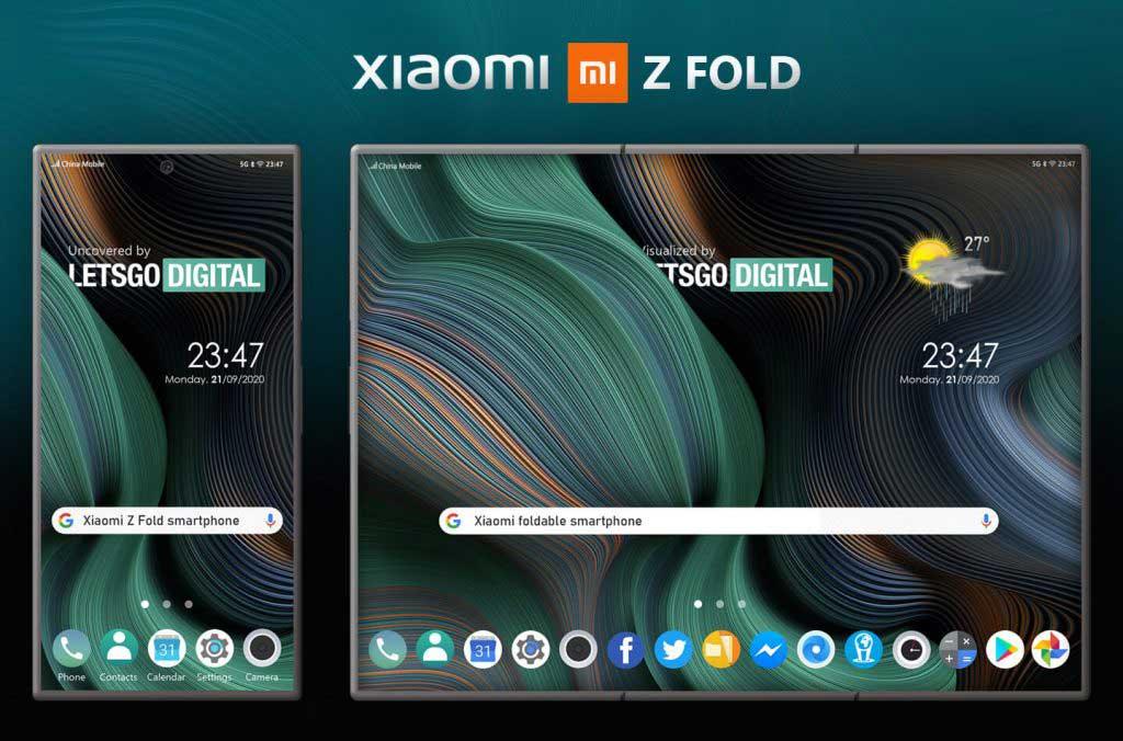 xiaomi z fold smartphone dobravel