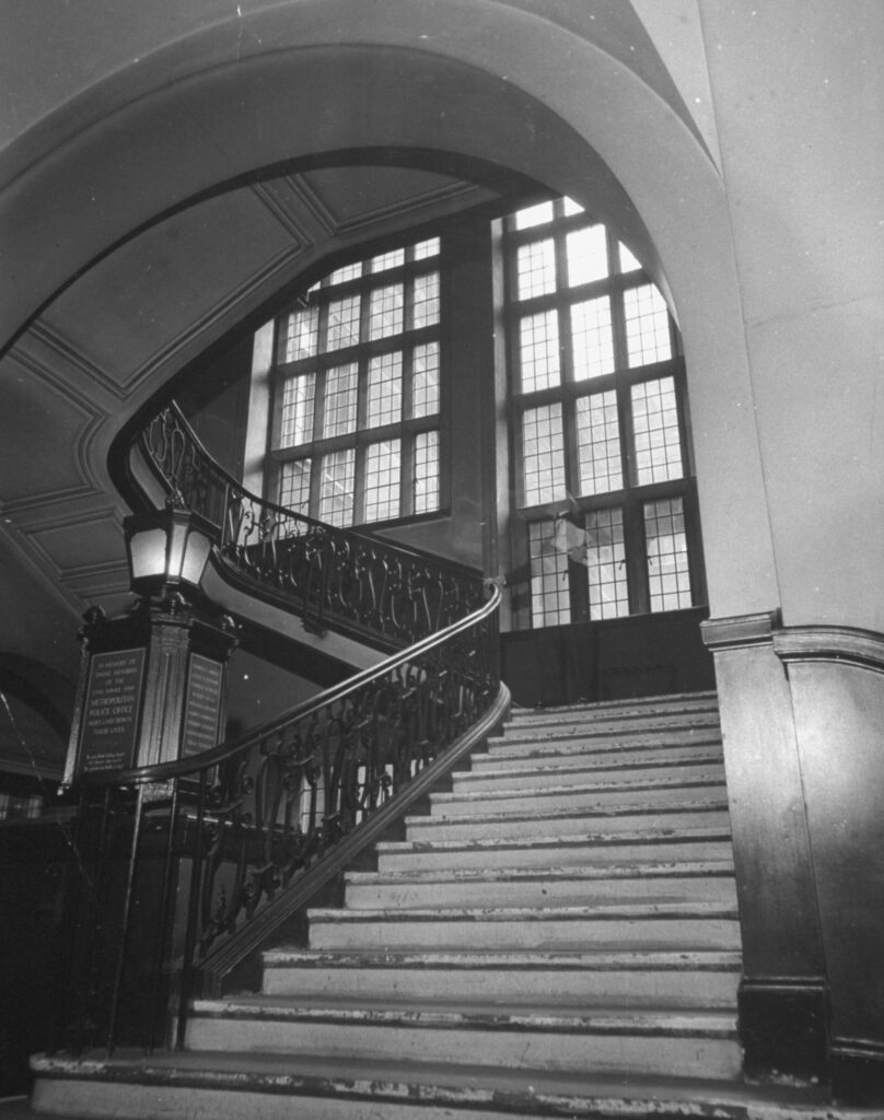 The main staircase in Scotland Yard