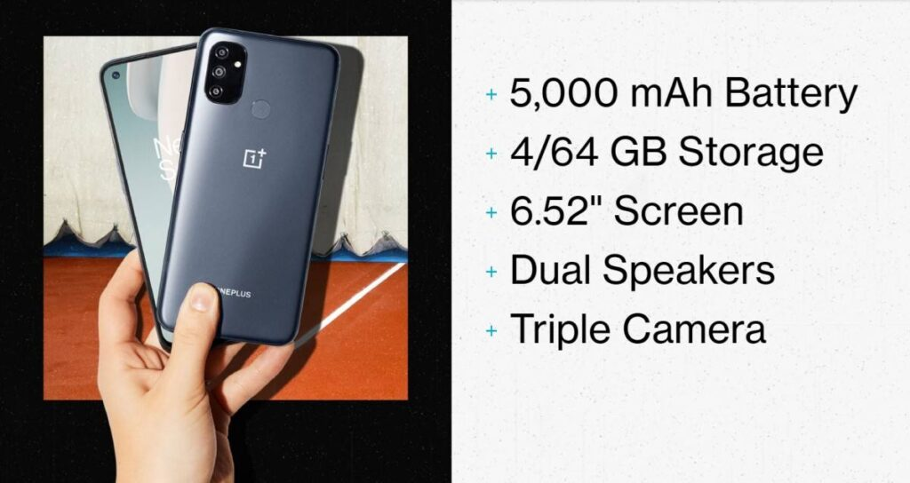 oneplus nord n100 especificacoes