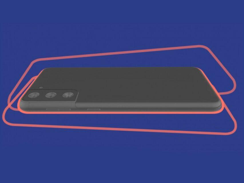 Aspeto do Samsung Galaxy S21+ revelado em render