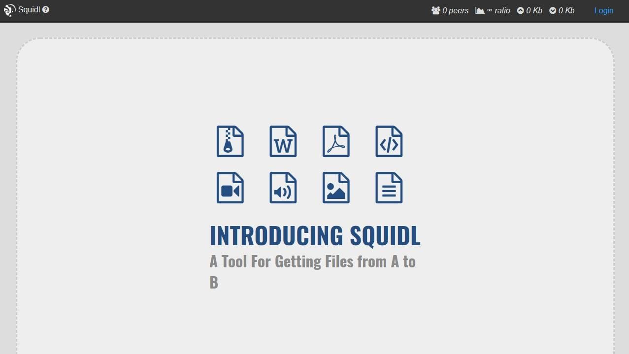squidl transferencia ficheiros sem limite