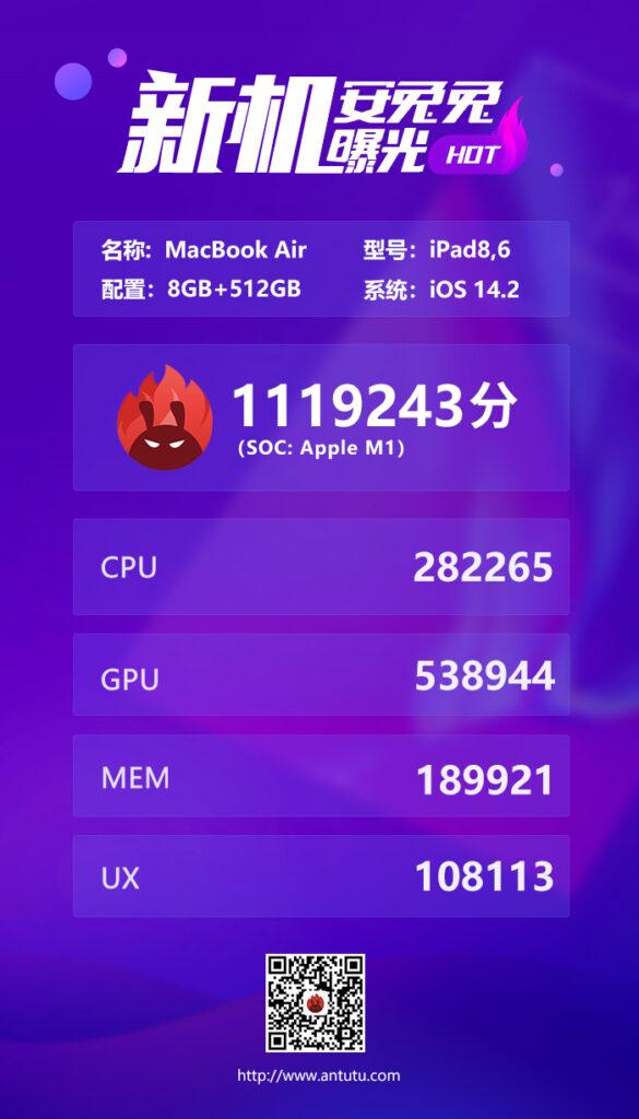 apple m1 antutu benchmark