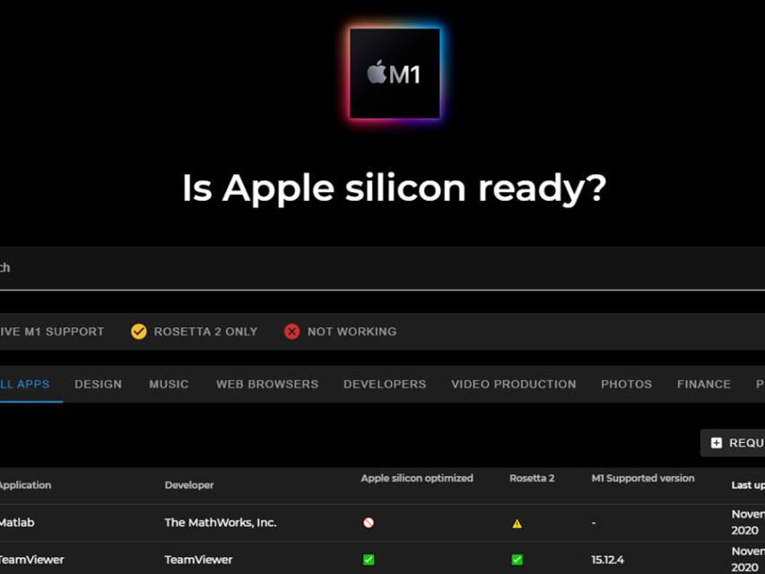 """Saiba que aplicações já são compatíveis com o Apple Silicon com o """"Is Apple silicon ready?"""""""