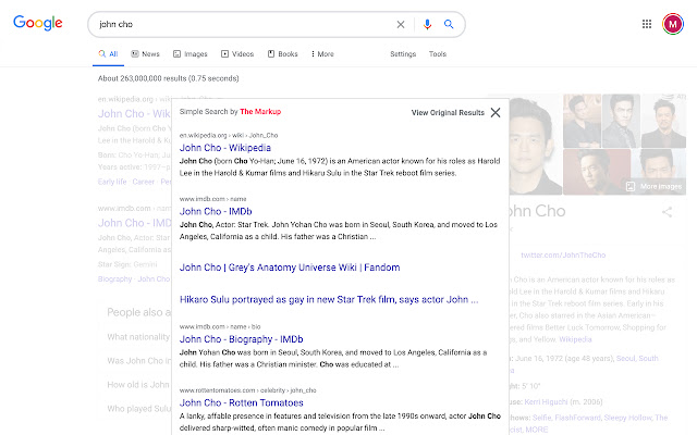 simple search resultados google 1998