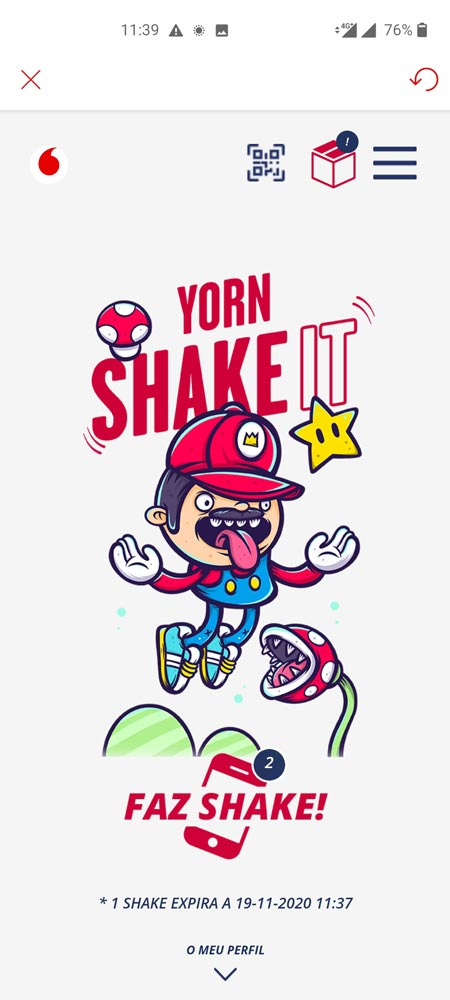 yorn shake it edicao game on