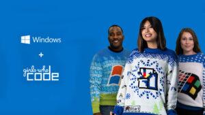 """Microsoft lança coleção de camisolas """"Ugly Sweater"""" inspiradas no Paint, Windows 95 e XP"""