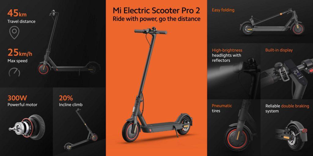 xiaomi mi eletric scooter pro 2