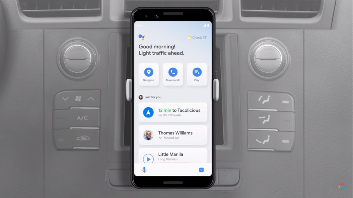 Modo conducao Google assistant