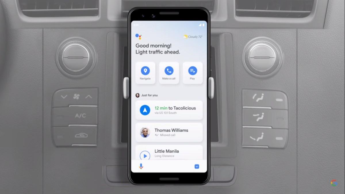 Modo conducao Google assistant