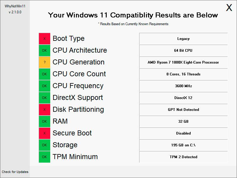 WhyNotWin11 verificar compatibilidade windows 11