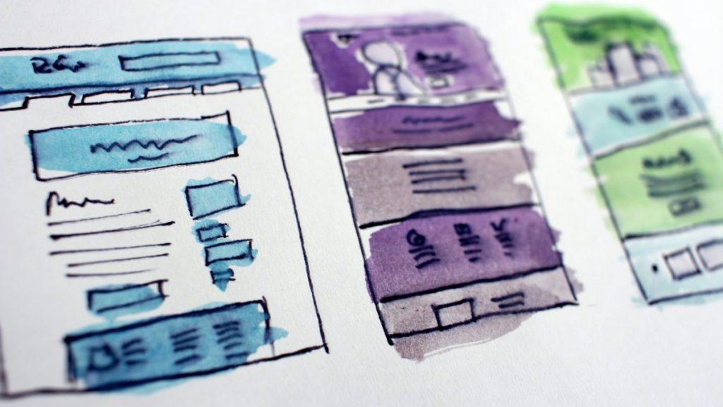 desenhar estrutura website